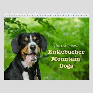 Entlebucher Mountain Dogs Wall Calendar