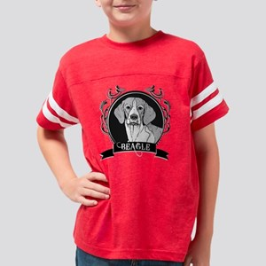 dogcrest_beagleblack Youth Football Shirt