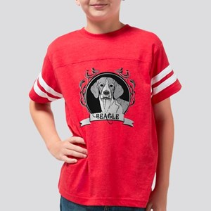 dogcrest_beagle Youth Football Shirt