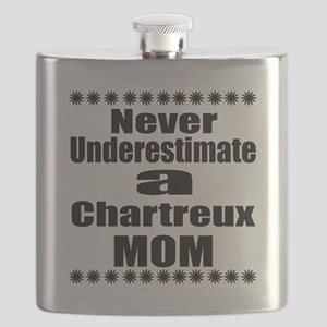 Never Underestimate chartreux Designs Flask