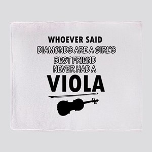 Viola Music better than Diamonds Throw Blanket