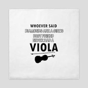 Viola Music better than Diamonds Queen Duvet