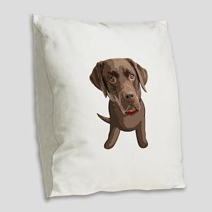 labrador_retriever003 Burlap Throw Pillow
