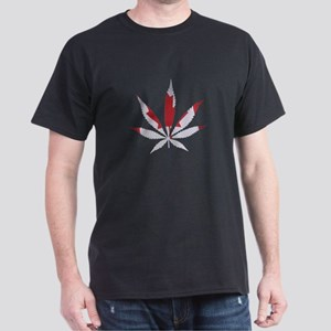 Pot leaf Canadian Flag Dark T-Shirt