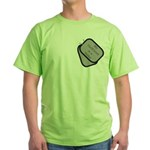 My Girlfriend is a Sailor dog tag Green T-Shirt