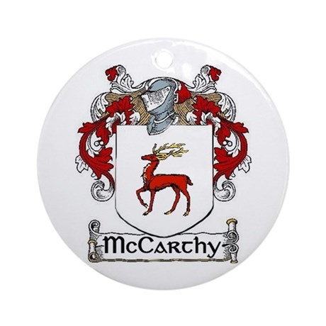 McCarthy Coat of Arms Ornament (Round)