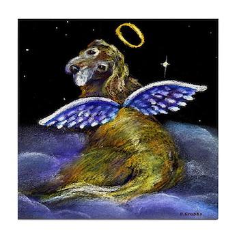 Golden Angel Tile Coaster