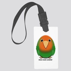 Peach Faced Lovebird Large Luggage Tag