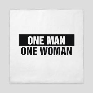 One Man One Woman Queen Duvet
