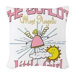 WorldsAngelicLittlegirl Woven Throw Pillow