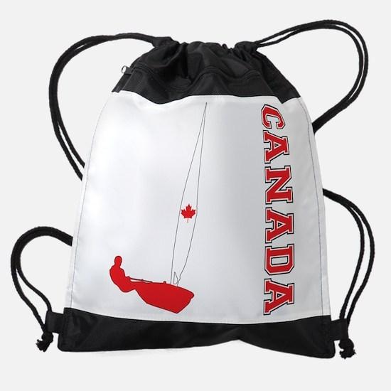 Sailing Canada Drawstring Bag
