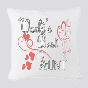 Hearts Aunt copy Woven Throw Pillow