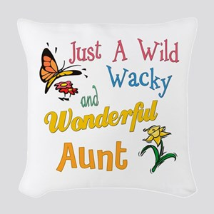 wonderful aunt Woven Throw Pillow