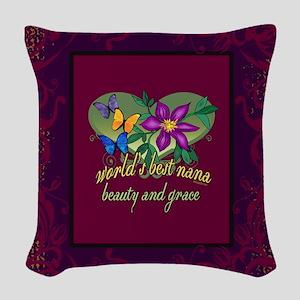 Blanket jeweltone nana Woven Throw Pillow