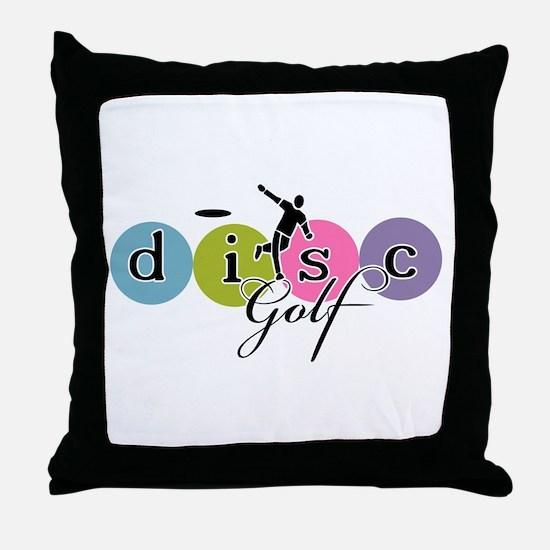 disc golf launch classic Throw Pillow