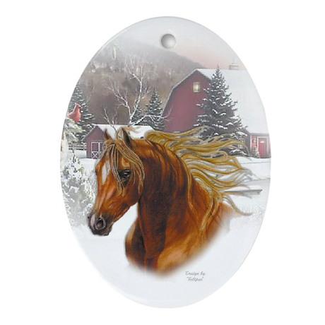 Horse Head Keepsake/Oval Ornament