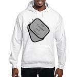 MY Fiancee is a Sailor dog tag Hooded Sweatshirt