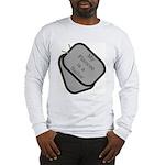 MY Fiancee is a Sailor dog tag Long Sleeve T-Shir