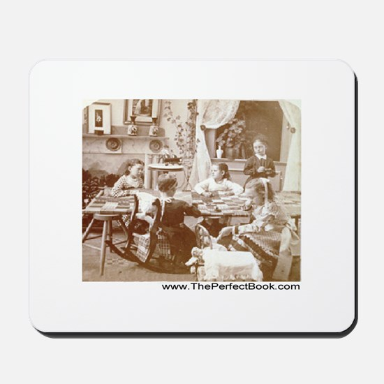 1881 quilting bee Mousepad