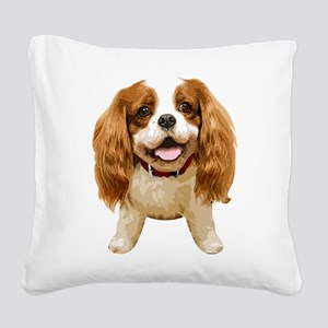 CavalierKingCharlesSpaniel002 Square Canvas Pillow