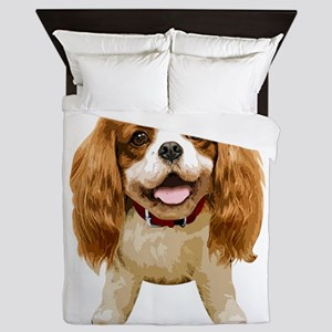 CavalierKingCharlesSpaniel002 Queen Duvet