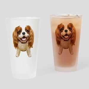 CavalierKingCharlesSpaniel002 Drinking Glass