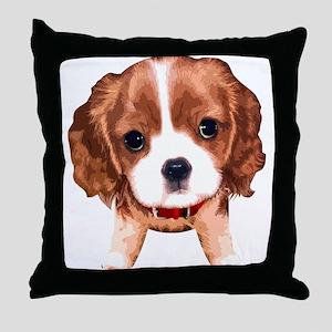 CavalierKingCharlesSpaniel003 Throw Pillow