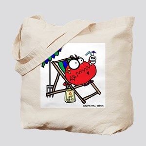 Demon in Beach Chair Tote Bag
