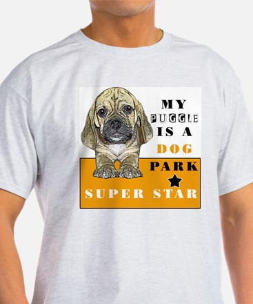 mY PUGGLE IS A DOG PARK SUPER Ash Grey T-Shirt