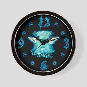 Fiery Lil Angel Pug Wall Clock