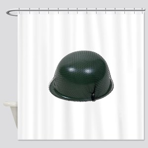 MilitaryHelmetNetting073011 Shower Curtain