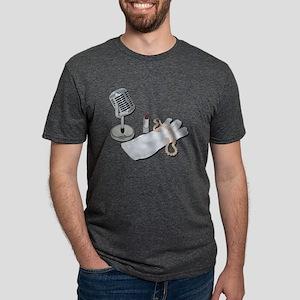 MicrophoneWhiteGlovesPearls Mens Tri-blend T-Shirt