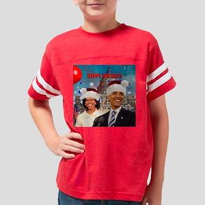 Obama s xmasWH 16x16 Youth Football Shirt