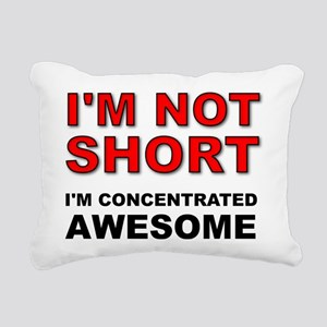 Not Short Concentrated Awesome Rectangular Canvas