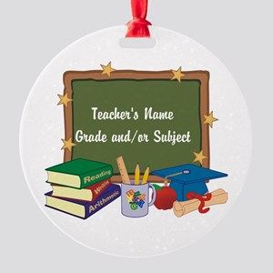 Custom Teacher Ornament