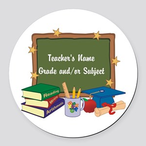 Custom Teacher Round Car Magnet