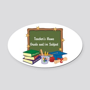 Custom Teacher Oval Car Magnet