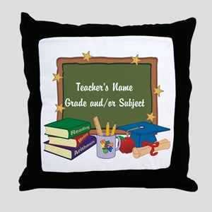 Custom Teacher Throw Pillow