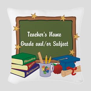 Custom Teacher Woven Throw Pillow