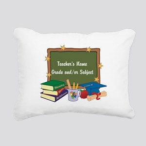 Custom Teacher Rectangular Canvas Pillow