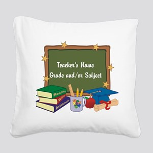 Custom Teacher Square Canvas Pillow