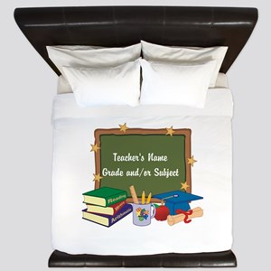 Custom Teacher King Duvet