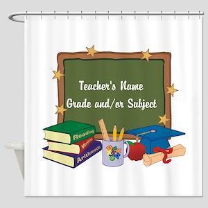 Custom Teacher Shower Curtain