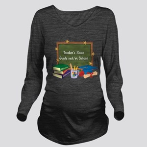 Custom Teacher Long Sleeve Maternity T-Shirt