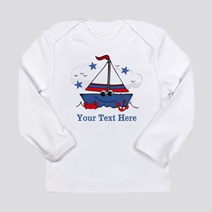 Cute Little Sailboat Personalized Long Sleeve Infa