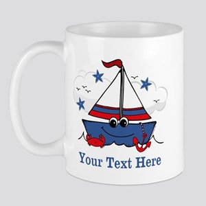 Cute Little Sailboat Personalized Mug