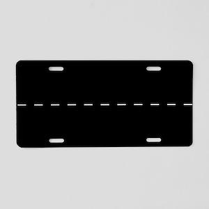 Road Markings Aluminum License Plate