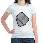 My Sister is a Sailor dog tag Jr. Ringer T-Shirt