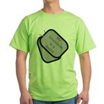 My Grandson is a Sailor dog tag Green T-Shirt