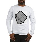 My Grandson is a Sailor dog tag Long Sleeve T-Shi